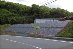 防草発電シート設置写真①