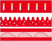 decoシリーズレッドケーキ柄